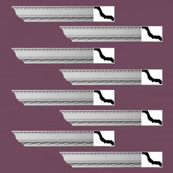 <PRE>Renovator's Supply Ornate Cornice White Urethane Tyringham Design 8 Pieces Totaling 752inch Length</PRE>zoom2