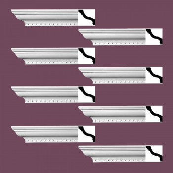 Renovators Supply Ornate Cornice White Urethane Hawley Design 8 Pieces Totaling 752 Length White PrePrimed Urethane Crown Cornice Molding Cornice Crown Home Depot Ekena Millwork Molding Wall Ceiling Corner Cornice Crown Cove Molding