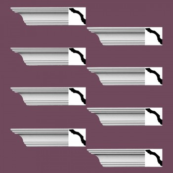 <PRE>Renovator's Supply Simple Cornice White Urethane Northbridge Design 8 Pieces Totaling 768inch Length</PRE>zoom2
