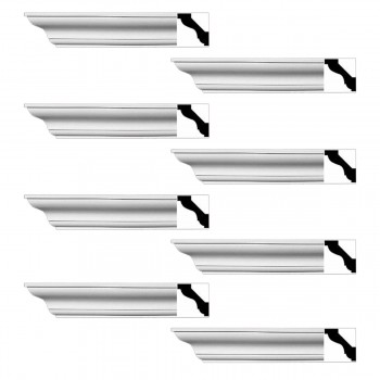 <PRE>Renovator's Supply Simple Cornice White Urethane Halifax Design 8 Pieces Totaling 768inch Length</PRE>zoom1