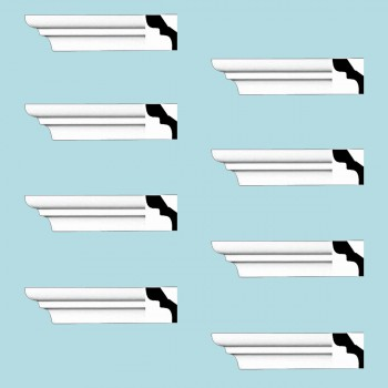 <PRE>Renovator's Supply Cornice White Urethane Holbrook Simple Design 8 Pieces Totaling 768inch Length</PRE>zoom2