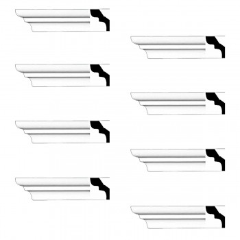 <PRE>Renovator's Supply Cornice White Urethane Holbrook Simple Design 8 Pieces Totaling 768inch Length</PRE>zoom1
