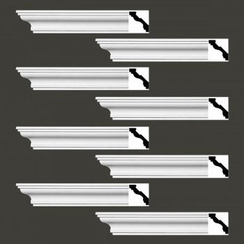 <PRE>Renovator's Supply Cornice White Urethane Marblehead Simple Design 8 Pieces Totaling 752inch Length</PRE>zoom2