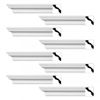<PRE>Renovator's Supply Cornice White Urethane Marblehead Simple Design 8 Pieces Totaling 752inch Length</PRE>zoom1