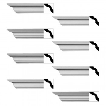 <PRE>Renovator's Supply Cornice White Urethane Merrimac Simple Design 8 Pieces Totaling 752inch Length</PRE>zoom1