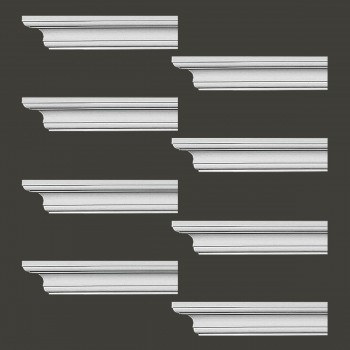 Renovators Supply Cornice White Urethane Ipswich Simple Design 8 Pieces Totaling 752 Length White PrePrimed Urethane Crown Cornice Molding Cornice Crown Home Depot Ekena Millwork Molding Wall Ceiling Corner Cornice Crown Cove Molding