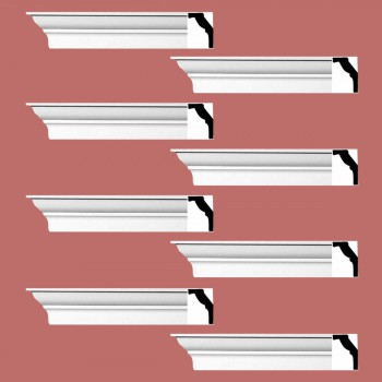 spec-<PRE>Renovator's Supply Cornice White Urethane Vineyard Haven  Design 8 Pieces Totaling 752&quot; Length</PRE>