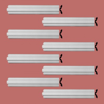 <PRE>Renovator's Supply Crown Molding Urethane Fall River Simple Design 8 Pieces Totaling 768inch Length</PRE>zoom2