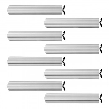 <PRE>Renovator's Supply Crown Molding Urethane Fall River Simple Design 8 Pieces Totaling 768inch Length</PRE>zoom1