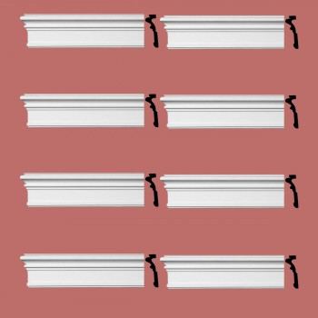 Renovators Supply Crown Molding Urethane Somerset Simple Design 8 Pieces Totaling 768 Length White PrePrimed Urethane Crown Cornice Molding Cornice Crown Home Depot Ekena Millwork Molding Wall Ceiling Corner Cornice Crown Cove Molding