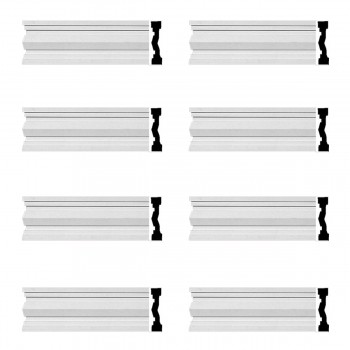 Renovators Supply Crown Molding White Urethane Wellfleet  Design 8 Pieces Totaling 768 Length White PrePrimed Urethane Crown Cornice Molding Cornice Crown Home Depot Ekena Millwork Molding Wall Ceiling Corner Cornice Crown Cove Molding