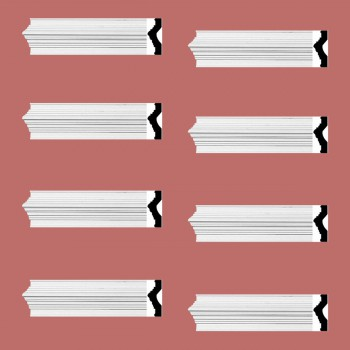 Renovators Supply Crown Molding White Urethane Abbot Simple Design 8 Pieces Totaling 752 Length White PrePrimed Urethane Crown Cornice Molding Cornice Crown Home Depot Ekena Millwork Molding Wall Ceiling Corner Cornice Crown Cove Molding