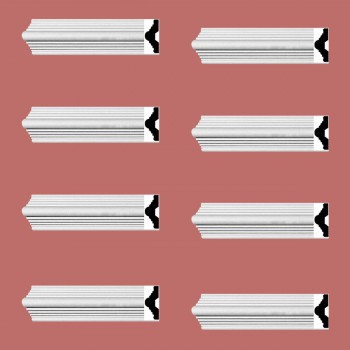 <PRE>Renovator's Supply Crown Molding White Urethane Alden Simple Design 8 Pieces Totaling 752inch Length</PRE>zoom2