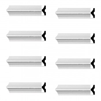 <PRE>Renovator's Supply Crown Molding White Urethane Alden Simple Design 8 Pieces Totaling 752inch Length</PRE>zoom1