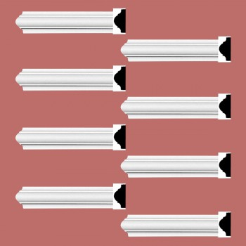 <PRE>Renovator's Supply Cornice White Urethane Simple Design 8 Pieces Totaling 760inch Length</PRE>zoom2