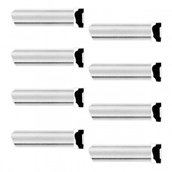 <PRE>Renovator's Supply Cornice White Urethane Alison Simple Design 8 Pieces Totaling 752inch Length</PRE>zoom1