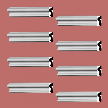 <PRE>Renovator's Supply Crown Molding White Urethane Caravaggio  Design 8 Pieces Totaling 760inch Length</PRE>zoom2