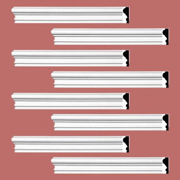 <PRE>Renovator's Supply Crown Molding White Urethane Amherst Simple Design 8 Pieces Totaling 768inch Length</PRE>zoom2