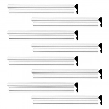 <PRE>Renovator's Supply Crown Molding White Urethane Amherst Simple Design 8 Pieces Totaling 768inch Length</PRE>zoom1