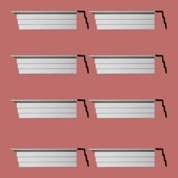 <PRE>Renovator's Supply Cornice White Urethane Barrington Ornate Design 8 Pieces Totaling 752inch Length</PRE>zoom2