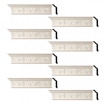 <PRE>Renovator's Supply Cornice White Urethane Colman Ornate Design 8 Pieces Totaling 768inch Length</PRE>zoom1