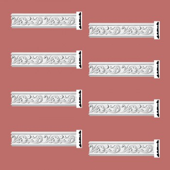 <PRE>Renovator's Supply Ornate Crown Molding White Urethane Kenmorer Design 8 Pieces Totaling 768inch Length</PRE>zoom2