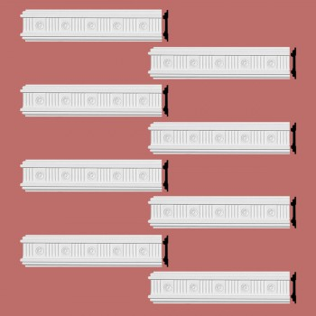 <PRE>Renovator's Supply Crown Molding White Urethane Westchester Ornate  8 Pieces Totaling 768inch Length</PRE>zoom2