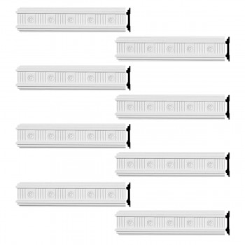 <PRE>Renovator's Supply Crown Molding White Urethane Westchester Ornate  8 Pieces Totaling 768inch Length</PRE>zoom1