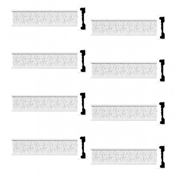 Renovators Supply Crown Molding White Urethane Ornate Design 8 Pieces Totaling 768 Length White PrePrimed Urethane Crown Cornice Molding Cornice Crown Home Depot Ekena Millwork Molding Wall Ceiling Corner Cornice Crown Cove Molding
