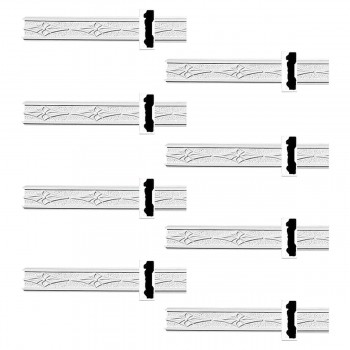 <PRE>Renovator's Supply Crown Molding White Urethane Diskenson Design 8 Pieces Totaling 768inch Length</PRE>zoom1