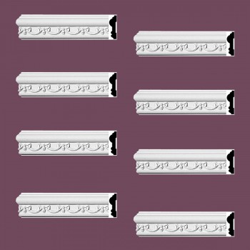 <PRE>Renovator's Supply Crown Molding White Urethane Kenton Ornate Design 8 Pieces Totaling 752inch Length</PRE>zoom2