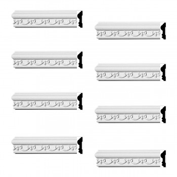 <PRE>Renovator's Supply Crown Molding White Urethane Kenton Ornate Design 8 Pieces Totaling 752inch Length</PRE>zoom1