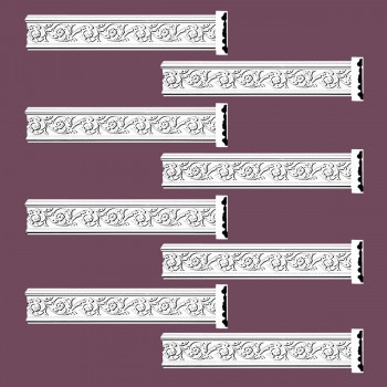 <PRE>Renovator's Supply Crown Molding White Urethane Radcliff Ornate Design 8 Pieces Totaling 752inch Length</PRE>zoom2