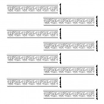 <PRE>Renovator's Supply Crown Molding White Urethane Radcliff Ornate Design 8 Pieces Totaling 752inch Length</PRE>zoom1