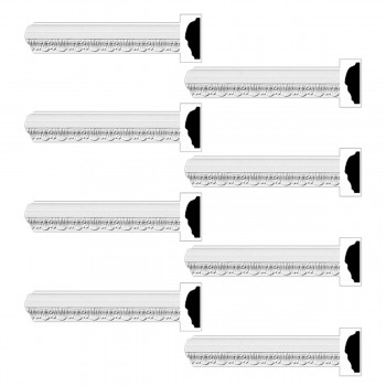 <PRE>Renovator's Supply  Ornate Cornice White Urethane Design 8 Pieces Totaling 752inch Length</PRE>zoom1