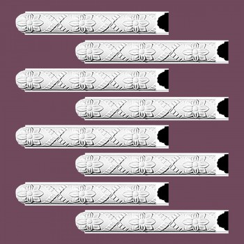 <PRE>Renovator's Supply Crown Molding White Urethane Trenton Ornate Design 8 Pieces Totaling 752inch Length</PRE>zoom2