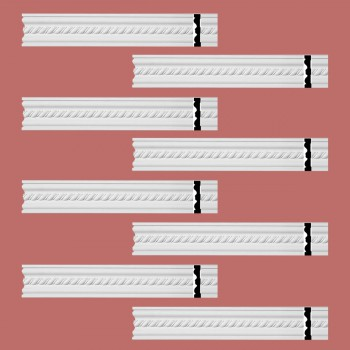 Renovators Supply Crown Molding White Urethane Wentworth Ornate  8 Pieces Totaling 752 Length White PrePrimed Urethane Crown Cornice Molding Cornice Crown Home Depot Ekena Millwork Molding Wall Ceiling Corner Cornice Crown Cove Molding