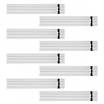 <PRE>Renovator's Supply Crown Molding White Urethane Wentworth Ornate  8 Pieces Totaling 752inch Length</PRE>zoom1