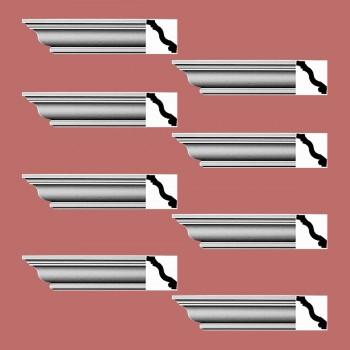 <PRE>Renovator's Supply Cornice White Urethane Radford Simple Design 8 Pieces Totaling 768inch Length</PRE>zoom2