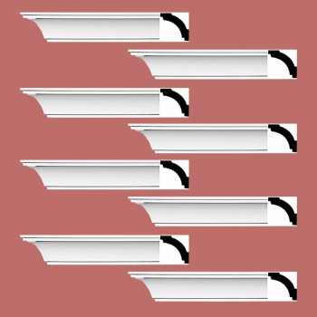 Renovators Supply Cornice White Urethane Dover Simple Design 8 Pieces Totaling 752 Length White PrePrimed Urethane Crown Cornice Molding Cornice Crown Home Depot Ekena Millwork Molding Wall Ceiling Corner Cornice Crown Cove Molding