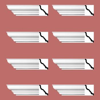 <PRE>Renovator's Supply Cornice White Urethane Bennington Simple Design 8 Pieces Totaling 752inch Length</PRE>zoom2
