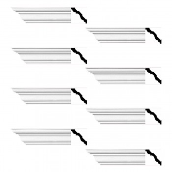 <PRE>Renovator's Supply Cornice White Urethane Montmarnes Simple Design 8 Pieces Totaling 752inch Length</PRE>zoom1