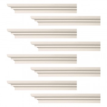 <PRE>Renovator's Supply Cornice White Urethane Papillon Simple Design 8 Pieces Totaling 752inch Length</PRE>zoom1