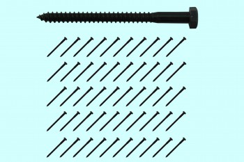 "<PRE>5/16inch x 4"" Lag Bolt Black Zinc Plated Set of 50</PRE>zoom2"