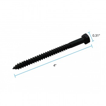"spec-<PRE>5/16"" x 4"" Lag Bolt Black Zinc Plated Set of 50</PRE>"