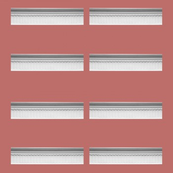 Renovators Supply Ornate Cornice White Urethane Sommet Design 8 Pieces Totaling 663 Length White PrePrimed Urethane Crown Cornice Molding Cornice Crown Home Depot Ekena Millwork Molding Wall Ceiling Corner Cornice Crown Cove Molding