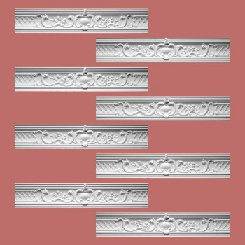 <PRE>Renovator's Supply Ornate Cornice White Urethane Fern Design 8 Pieces Totaling 638inch Length</PRE>zoom2