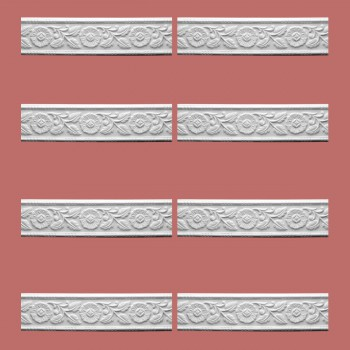 <PRE>Renovator's Supply Cornice White Urethane Leaf Design 8 Pieces Totaling 752inch Length</PRE>zoom2