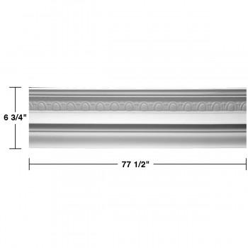 "spec-<PRE> Cornice White Urethane Medowlark Design 8 Pieces Totaling 620"" Length</PRE>"