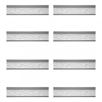 <PRE>Renovator's Supply Cornice White Urethane Somber Water Design 8 Pieces Totaling 629inch Length</PRE>zoom1